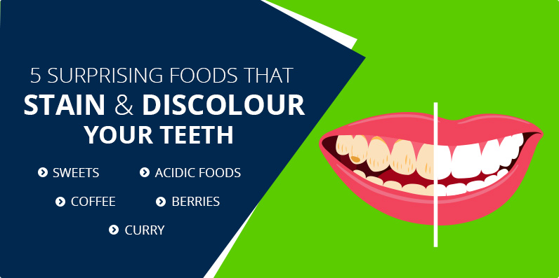 foods that stain and discolour your teeth